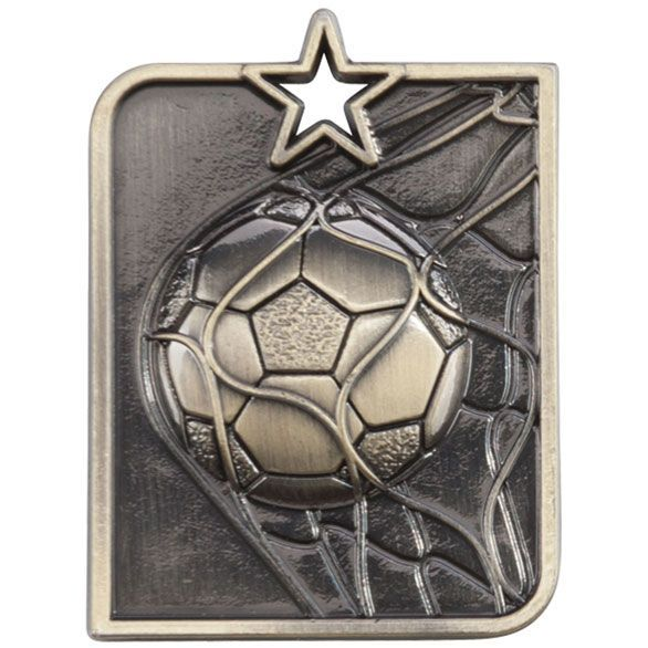 * NEW FOR 2017 * Centurion Star Series Football Medal Gold